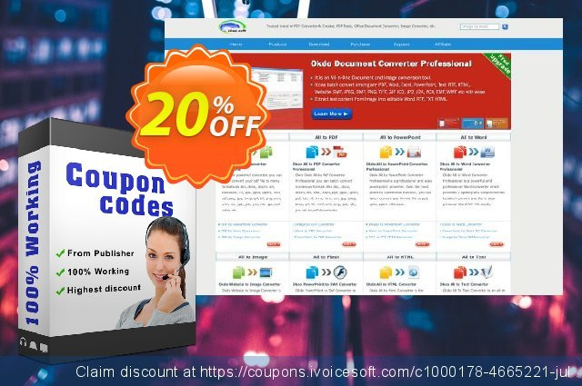 Okdo Word Rtf Txt to Png Converter discount 20% OFF, 2021 New Year's Weekend offer