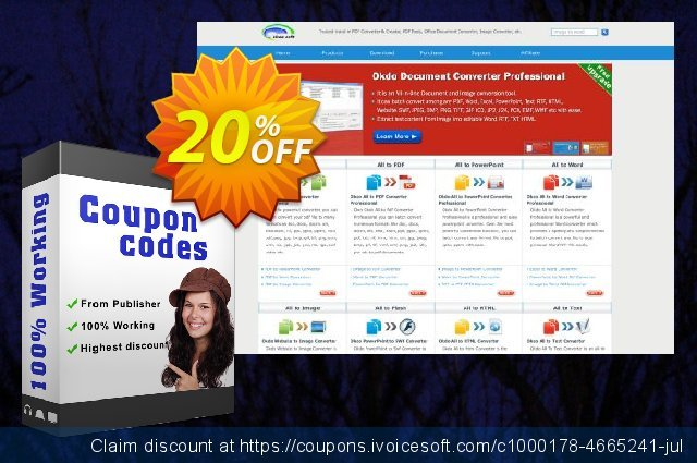 Okdo PDF Tools Platinum Full Version discount 20% OFF, 2021 Happy New Year discount