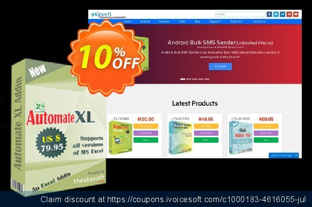 TheSkySoft Automate XL discount 10% OFF, 2020 Back to School deals offering sales