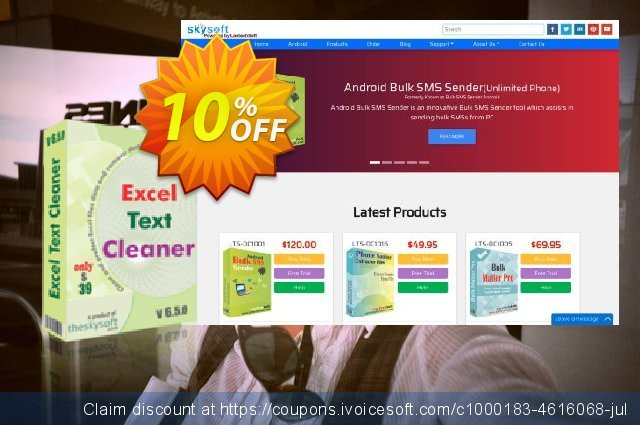 TheSkySoft Excel Text Cleaner discount 10% OFF, 2020 New Year deals