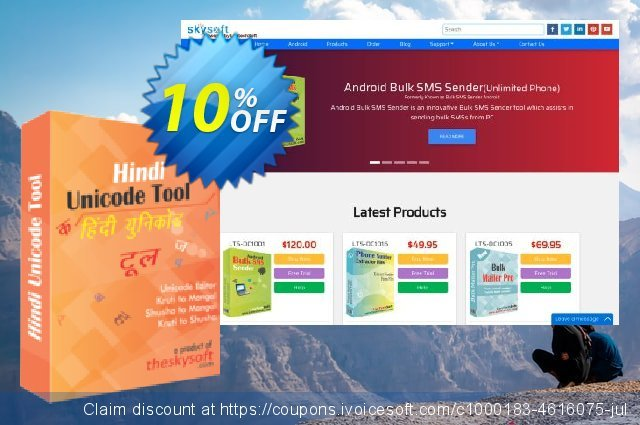 Hindi Unicode Tool discount 10% OFF, 2019 Thanksgiving Day promotions