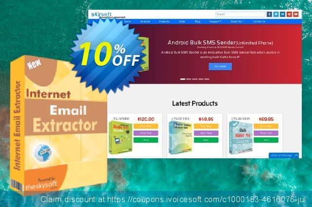 TheSkySoft Internet Email Extractor discount 10% OFF, 2020 Halloween promotions