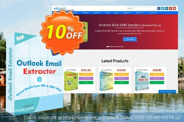 Outlook Email Extractor discount 10% OFF, 2019 Back to School offer sales