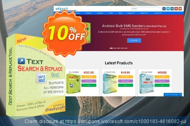 TheSkySoft Text Search and Replace Tool discount 10% OFF, 2020 Exclusive Student deals discount