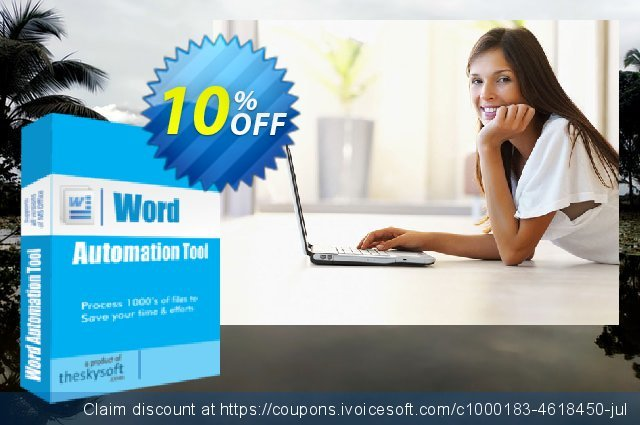 Word Automation Tool discount 10% OFF, 2019 Back to School shopping offering sales