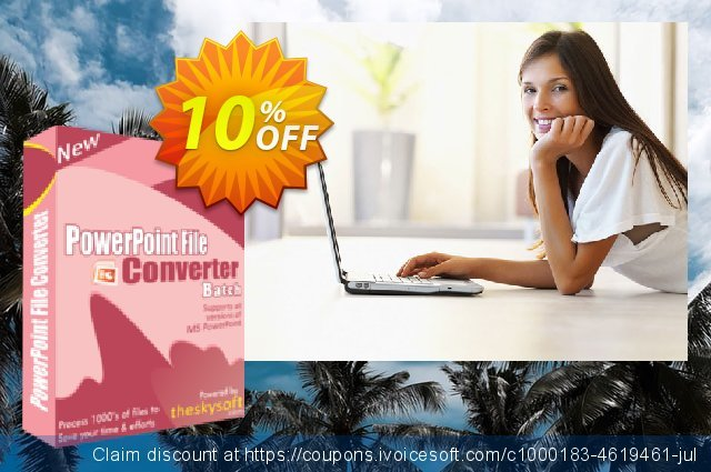 TheSkySoft PowerPoint File Converter Batch discount 10% OFF, 2020 New Year's Weekend offering sales