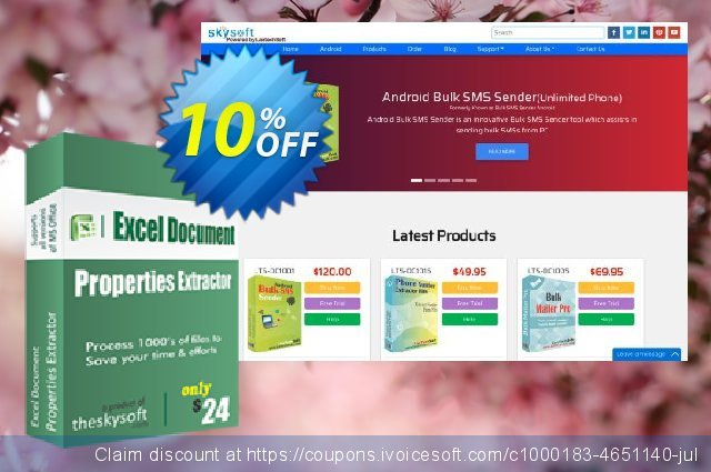 TheSkySoft Excel Document Properties Extractor discount 10% OFF, 2020 Happy New Year promotions