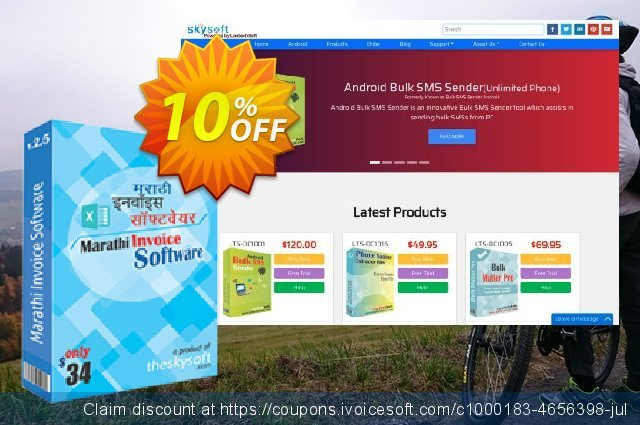 Marathi Invoice Software discount 10% OFF, 2019 Back to School offer offer