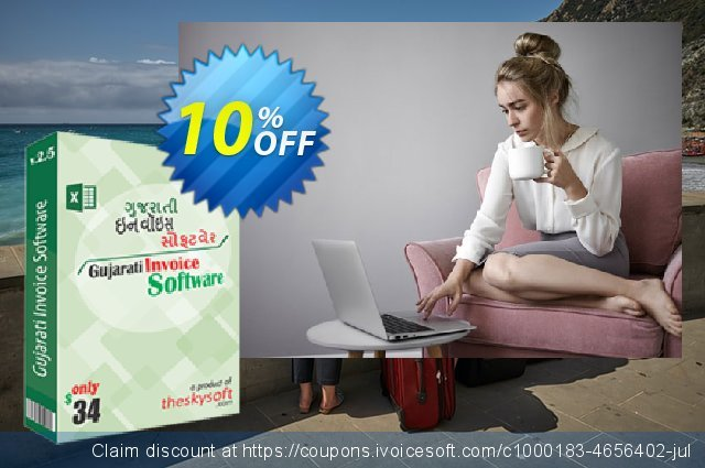 TheSkySoft Gujarati Invoice Software discount 10% OFF, 2020 New Year discounts