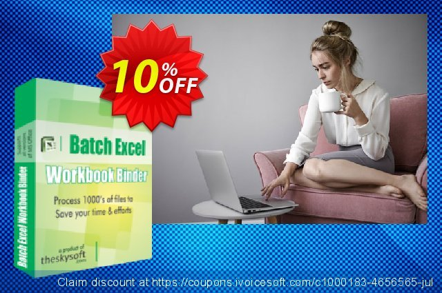 Batch Excel Workbook Binder discount 10% OFF, 2019 Back to School shopping discounts