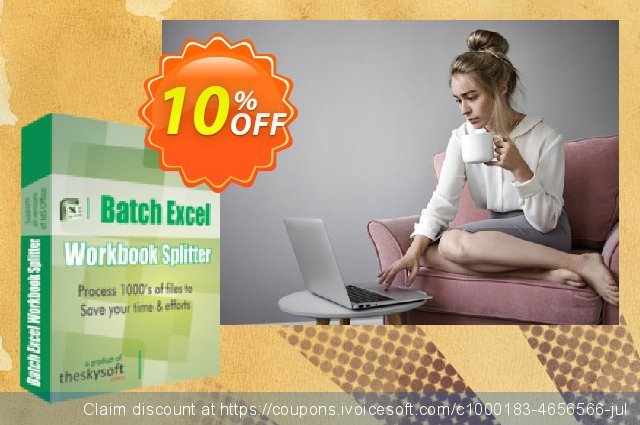TheSkySoft Batch Excel Workbook Splitter discount 10% OFF, 2020 Back to School shopping discounts