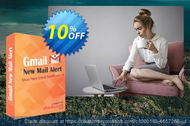 TheSkySoft Gmail New Mail Alert discount 10% OFF, 2020 January promo sales