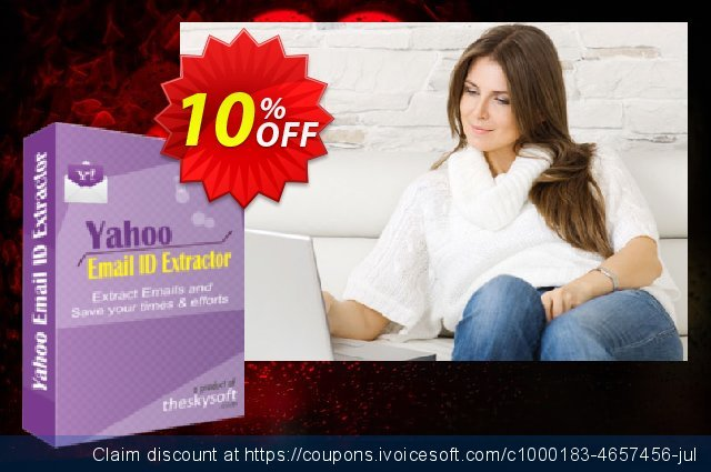 TheSkySoft Yahoo Email ID Extractor 壮丽的 产品销售 软件截图
