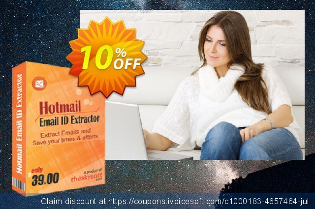 TheSkySoft Hotmail Email ID Extractor discount 10% OFF, 2020 New Year's Weekend offering sales