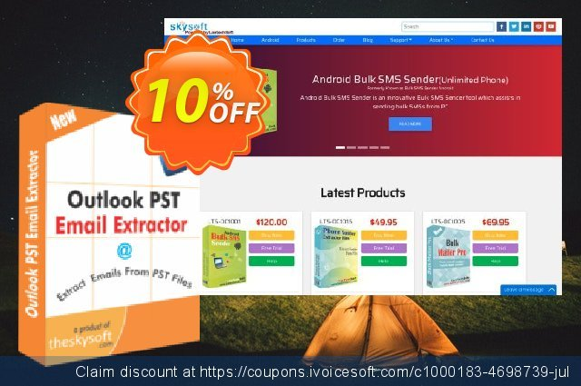 TheSkySoft Outlook PST Email Extractor  신기한   제공  스크린 샷
