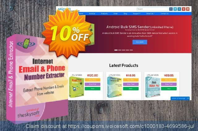 TheSkySoft Internet Email and Phone Number Extractor discount 10% OFF, 2020 Working Day promotions