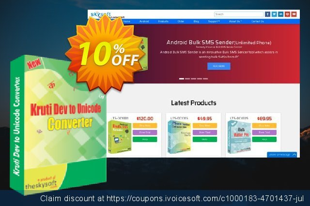 TheSkySoft Kruti Dev to Unicode Converter discount 10% OFF, 2020 Happy New Year discount