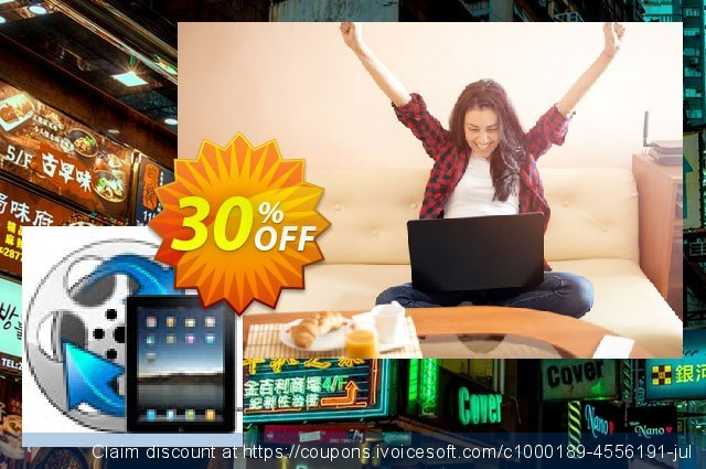 Enolsoft Video to iPad Converter discount 30% OFF, 2019 Back to School season offering sales