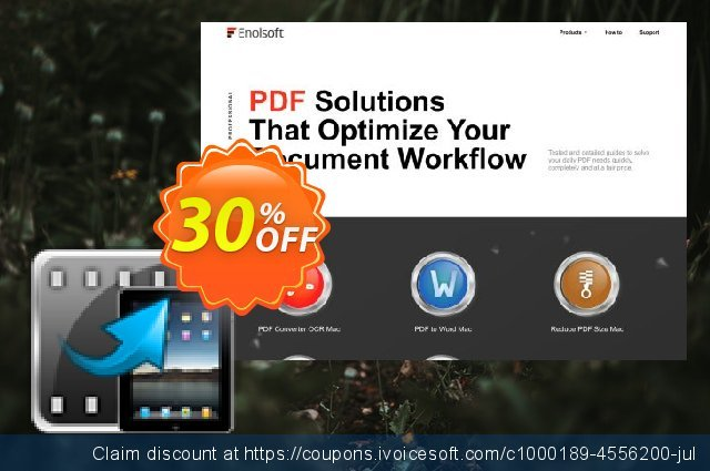 Enolsoft Video to iPad Converter for Mac discount 30% OFF, 2019 College Student deals offering sales