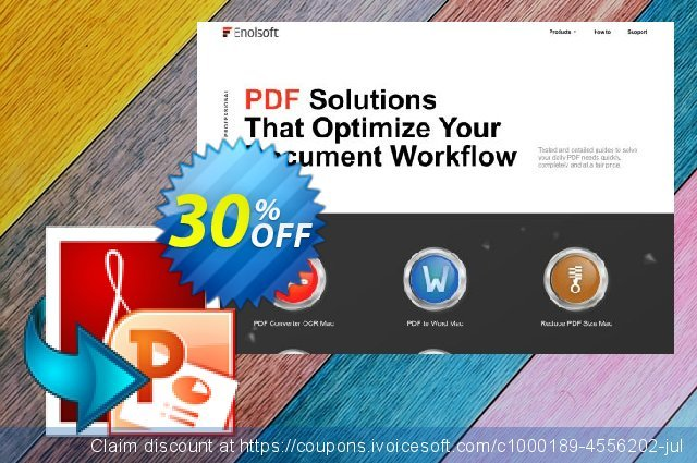Enolsoft PDF to PowerPoint for Mac discount 30% OFF, 2020 College Student deals offering deals