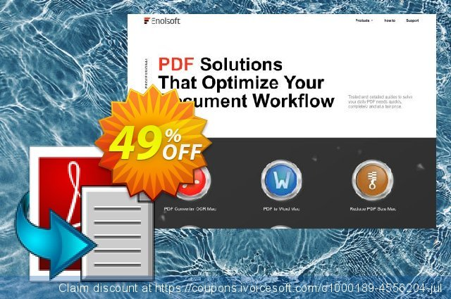 Enolsoft PDF to Text for Mac discount 49% OFF, 2020 Working Day offering sales