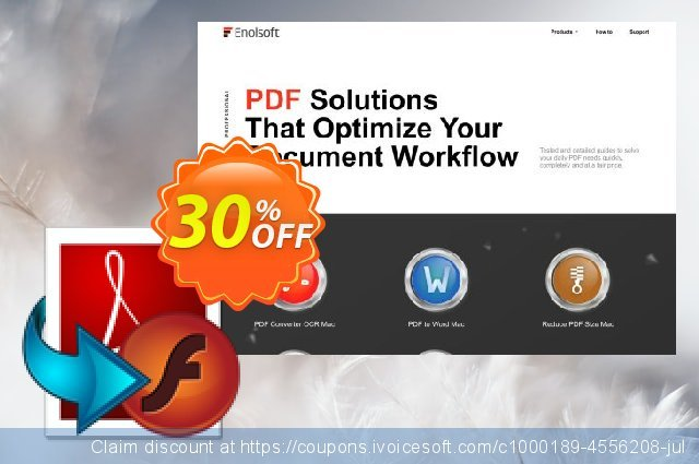 Enolsoft PDF to SWF for Mac discount 30% OFF, 2019 Black Friday offering sales