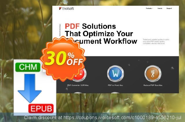 Enolsoft CHM to EPUB for Mac discount 30% OFF, 2020 Resurrection Sunday offering sales