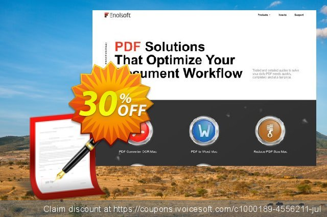 Enolsoft Signature for PDF discount 30% OFF, 2019 Back to School coupons offering sales