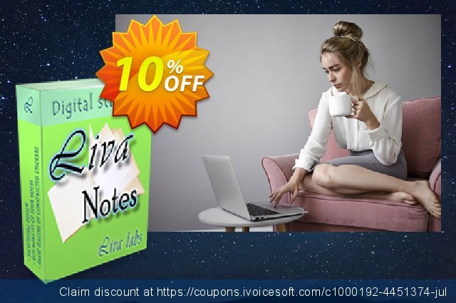 Liva Notes discount 10% OFF, 2020 Working Day offering sales