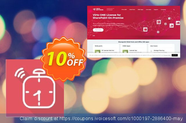 Dev. Virto Alert & Reminder for SP2007 discount 10% OFF, 2020 Mother Day discount