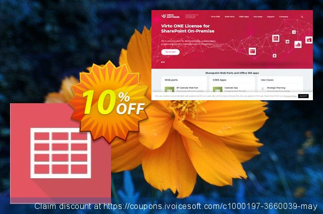 Get 10% OFF Dev. Virto Ajax Data Grid for SP2007 promo sales