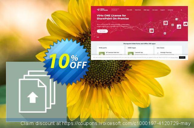 Dev. Virto Bulk File Upload SP 2007 discount 10% OFF, 2020 College Student deals deals