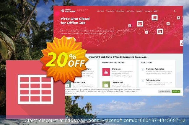 Virto Ajax Data Grid Web Part for SP2010 discount 10% OFF, 2019 Back to School event offering sales
