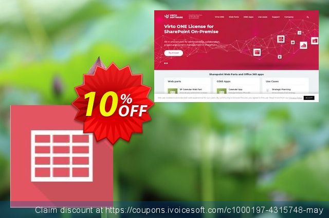 Dev. Virto Ajax Data Grid  for SP2010 discount 10% OFF, 2019 Summer offer