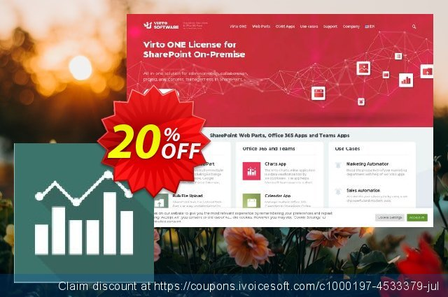 Virto Jquery Charts for SP2007 discount 10% OFF, 2019 College Student deals offering sales