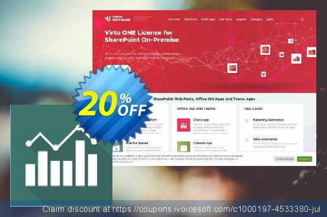 Virto Jquery Charts for SP2010 discount 10% OFF, 2020 Halloween offering sales