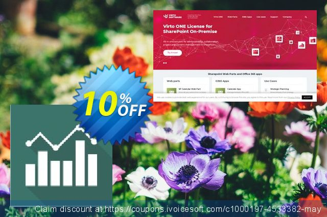 Dev. Virto Jquery Charts for SP2010 discount 10% OFF, 2019 Back to School promo offering sales