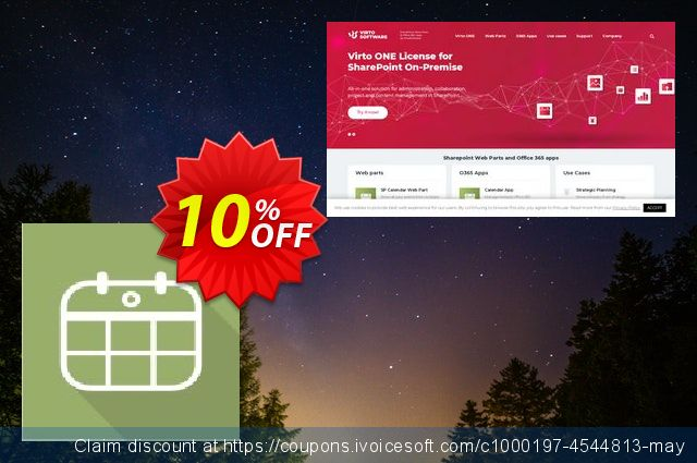 Dev. Virto Mini Calendar for SP2010 discount 10% OFF, 2019 Back to School season offering sales