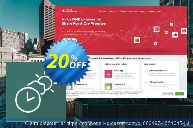Dev. Virto Clock & Weather Web Part for SP2010 discount 20% OFF, 2021 National Savings Day offering sales. Dev. Virto Clock & Weather Web Part for SP2010 dreaded discount code 2021
