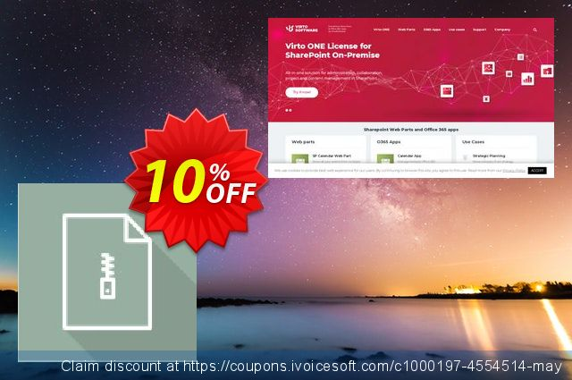Dev. Virto Bulk File Unzip Utility for SP2010 discount 10% OFF, 2019 July 4th offering sales