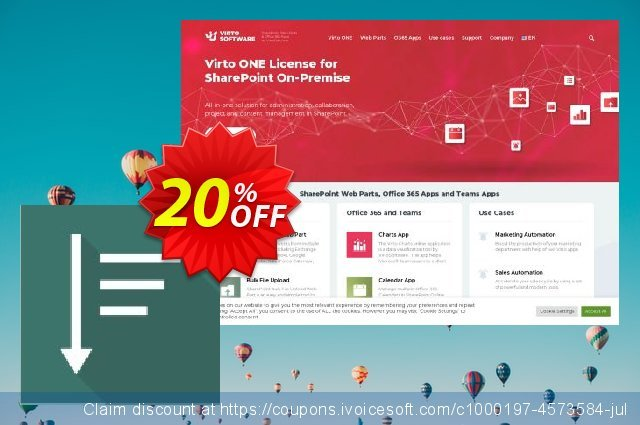 Get 10% OFF Virto List Menu Web Part for SP2007 offering sales