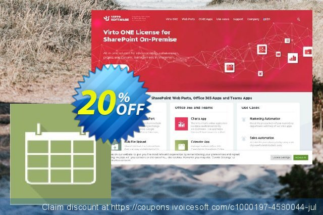 Virto Calendar for SP2013 discount 10% OFF, 2019 Back to School promo offering sales