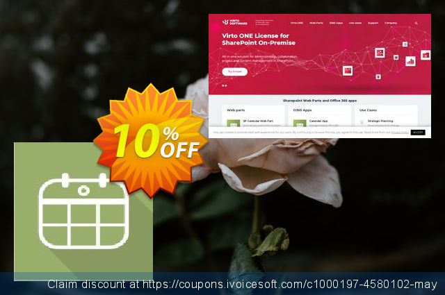 Dev. Virto Mini Calendar for SP2013  경이로운   가격을 제시하다  스크린 샷