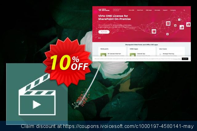 Dev. Virto Media Player Web Part for SP2013 discount 10% OFF, 2019 University Student deals offering sales