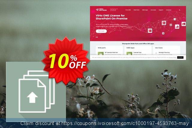 Dev. Virto Bulk File Upload for SP2013 discount 10% OFF, 2019 Summer offering sales