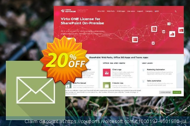 Virto Incoming Email Feature for SP2013 discount 10% OFF, 2020 Black Friday discount