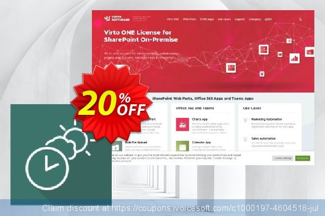 Virto Clock & Weather Web Part for SP2013 discount 10% OFF, 2019 Summer offering sales