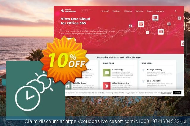 Dev. Virto Clock & Weather Web Part for SP2013 discount 10% OFF, 2019 4th of July offering sales