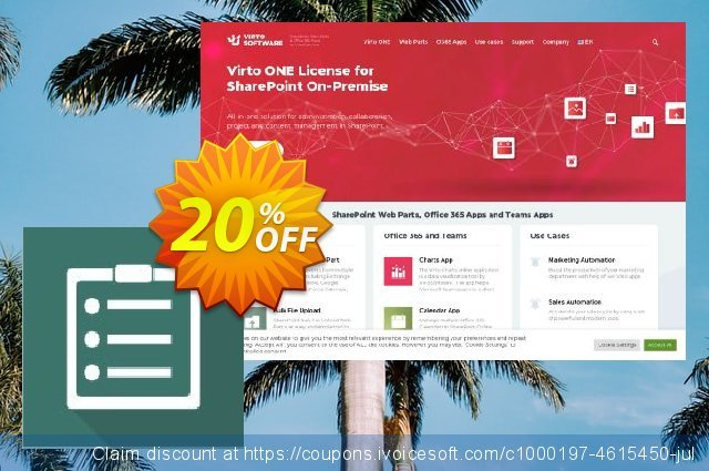 Virto Content Management Suite for SP2013 discount 10% OFF, 2019 Back to School promo sales