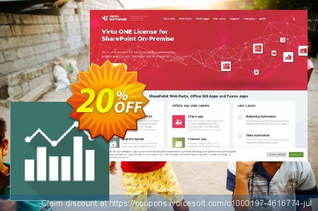 Virto Jquery Charts for SP2013 discount 10% OFF, 2019 Halloween offering sales